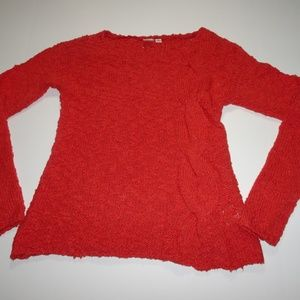 Womens Anthropologie yellow bird sweater